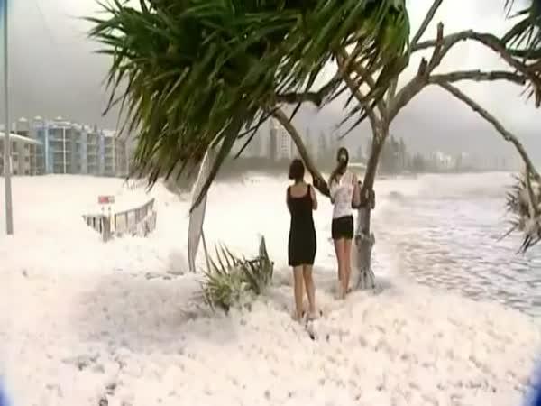 Pěnová bouře v Austrálii