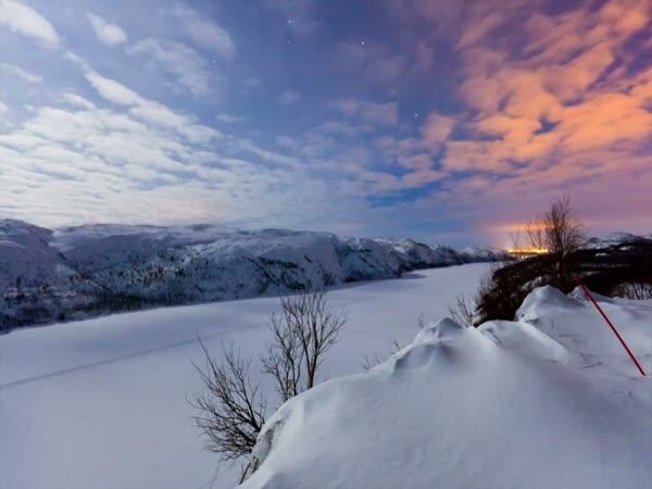 Překrásná polární záře