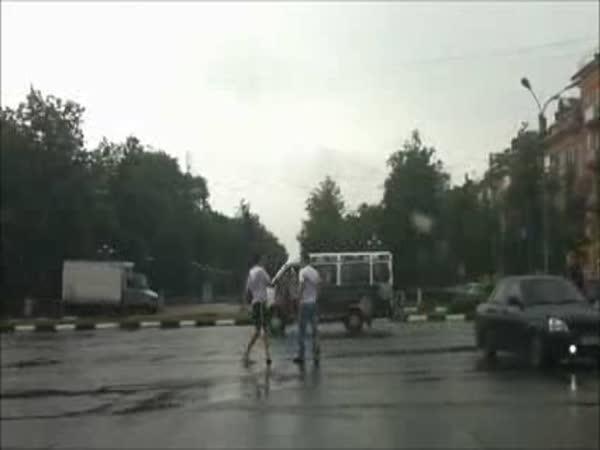 Rusko - Když se řidiči poperou