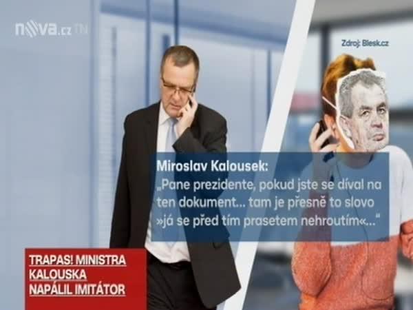 Aprílový žertík pro ministra Kalouska