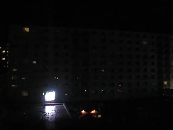 Lightshow na kolejích VUT #2013