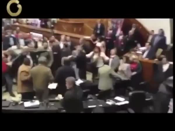 Jak se v parlamentu porvali (Venezuela)