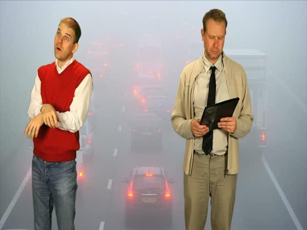Vtipné dopravní zpravodajství pro neslyšící