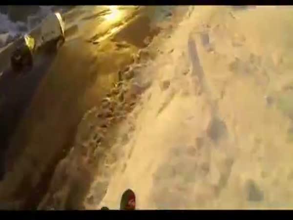 Skok na lyžích před policií