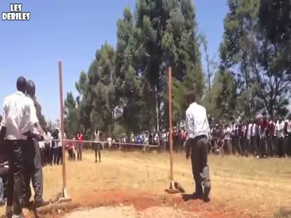 Keňa - skok do výšky