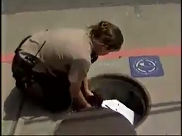 Policie pomáhá kachně