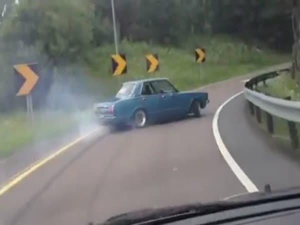 Nevídaný sjezd z dálnice