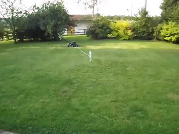 Jak posekat trávník bez práce
