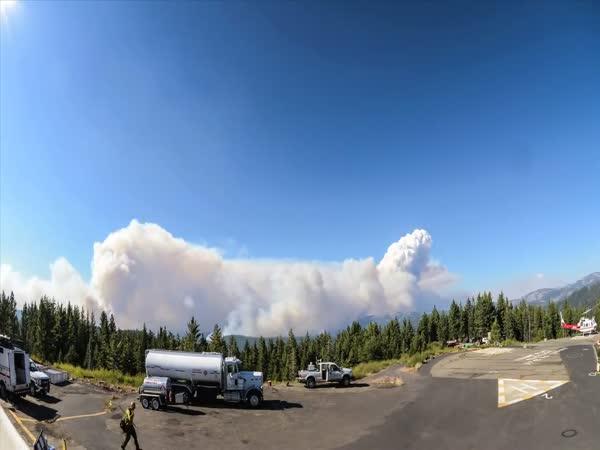 Požár v Kalifornii [timelapse]