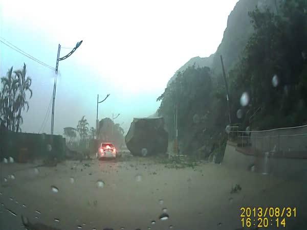 Sesuv půdy v Taiwanu