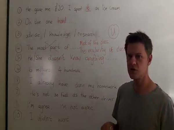 Deset typických chyb studentů angličtiny