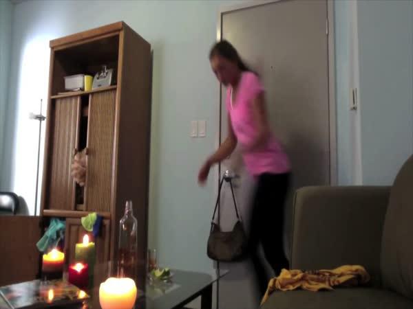Dívka hořela při natáčení videa pro přítele