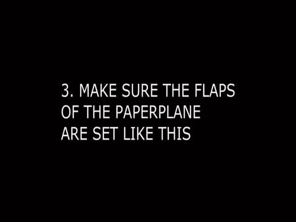 Papírové letadélko letící na dobu neurčitou
