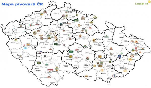 Pivní mapa České republiky