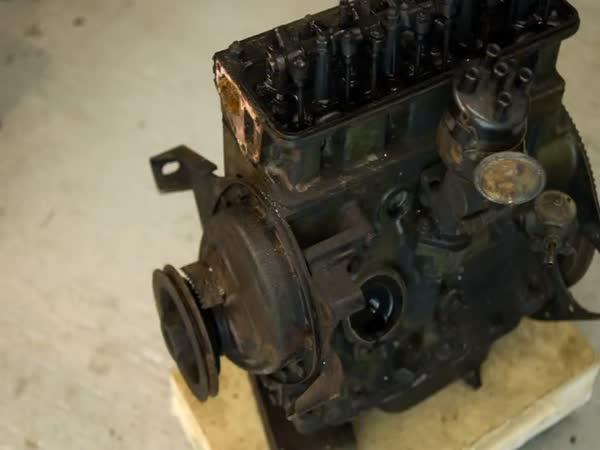 Rozložení a složení motoru