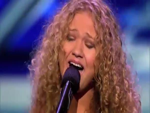 Okouzlující handicapovaná dívka v X-Factoru