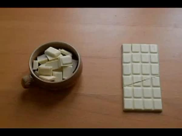 Trik s čokoládou