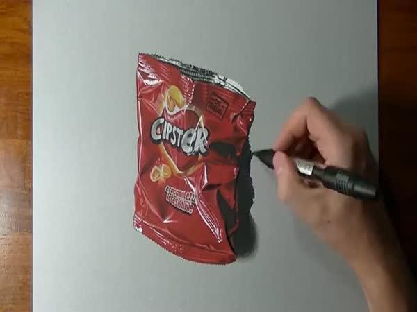 Neskutečně realistický obal od chipsů