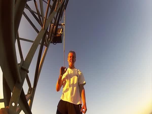 Stojka ve výšce 244 metrů