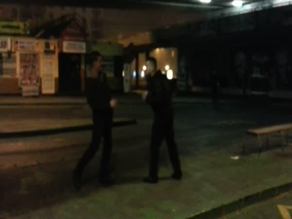 Bratislava - pouliční rvačka