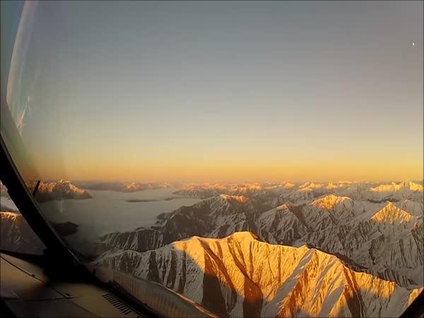 Nový Zéland z letadla