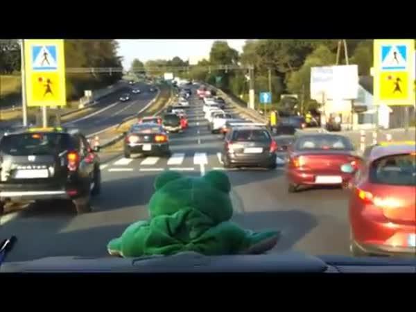 Průjezd záchranky - polská dálnice