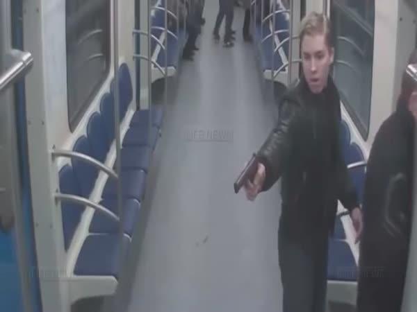 Potyčka v ruském metru