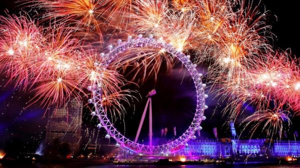 Oslava začátku roku 2014 v Londýně