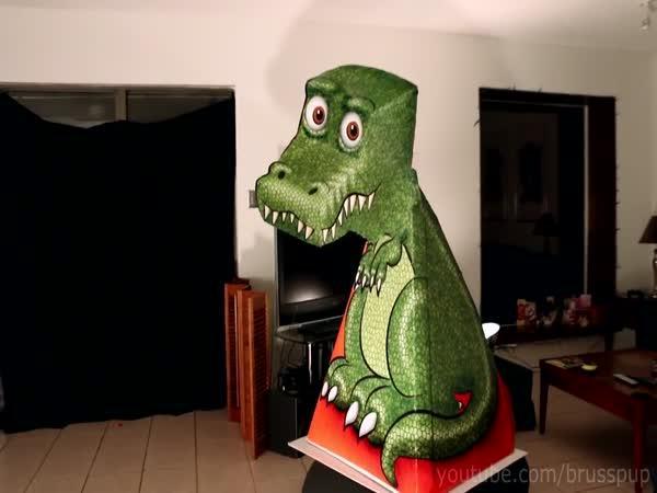 Optická iluze - T-Rex