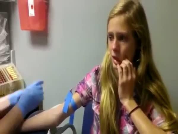Odběr krve - hysterka