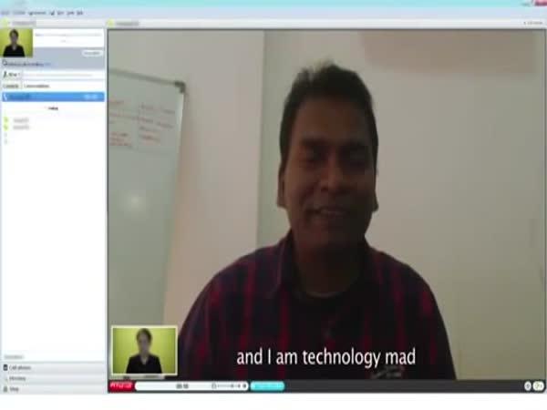 Příliš snaživý Ind - pracovní pohovor
