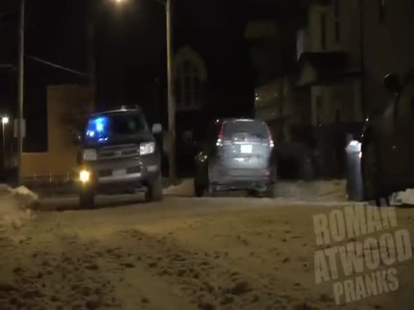 Nachytávka - střelba z auta