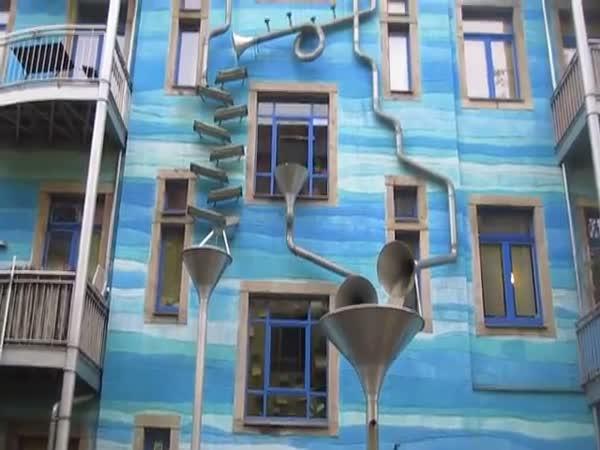 Německé hrající dešťové potrubí