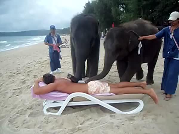 Sloní masáž #2