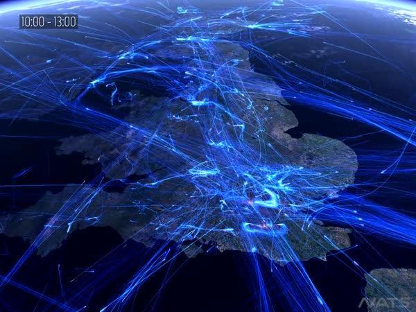 Letecká doprava nad Evropou