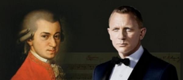 Kombinace Mozarta a Jamese Bonda