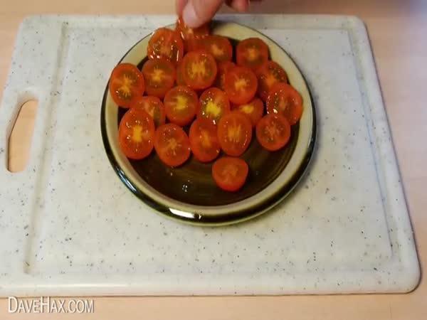 Návod - krájení cherry rajčat