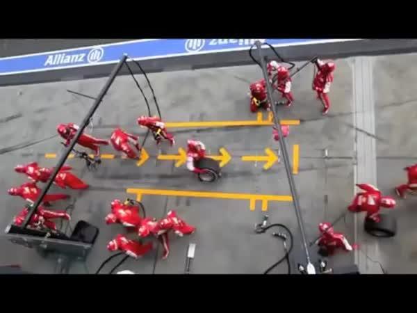 Zastávka v boxu Formule 1 - 1950 & 2013