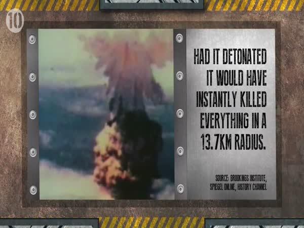 Top 10 - nukleární zbraně