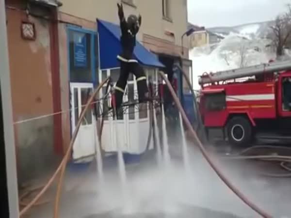 Létající ruští hasiči