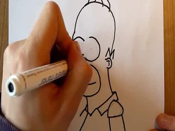 Návod - Jak nakreslit Homera Simpsona