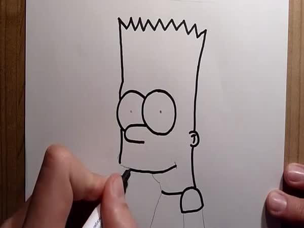 Návod - Jak nakreslit Barta Simpsona
