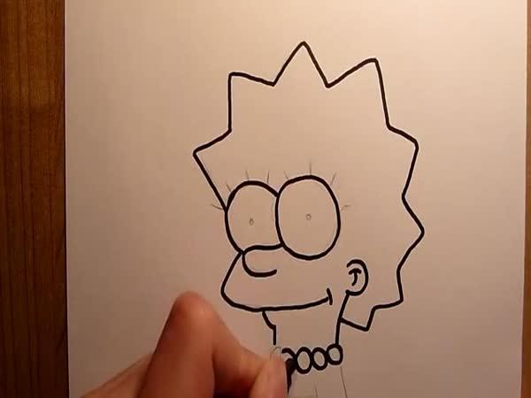 Návod - Jak nakreslit Lisu Simpsonovou