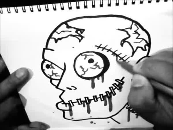 Návod - Jak nakreslit zombie (hlavu)