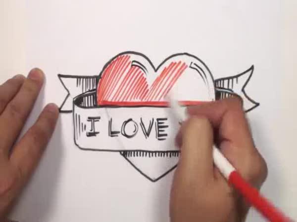 Návod - Jak nakreslit srdce s nápisem