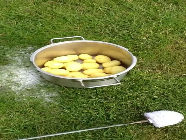 Návod - čištění brambor