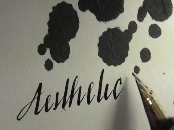 Psaní perem jako umění