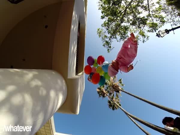 Nachytávka - létající dítě