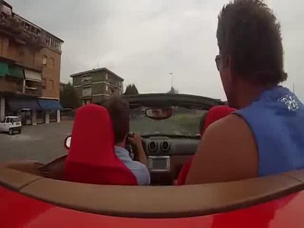 Testovací projížďka ve Ferrari