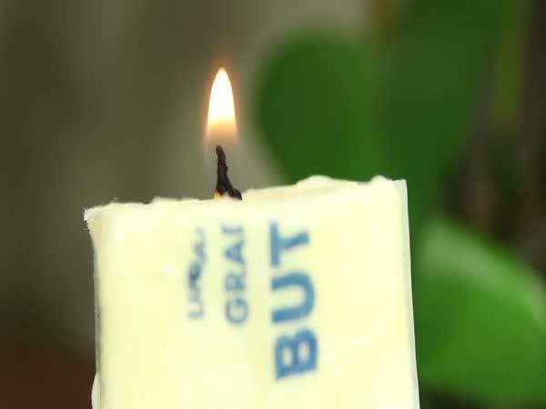 NÁVOD - svíčka z másla